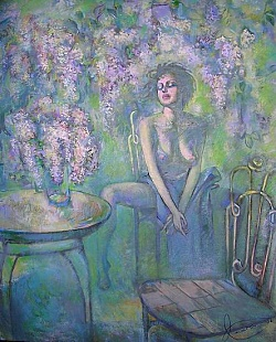 Lilac Hand painted oil painting