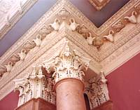 stucco moulding in a interior design