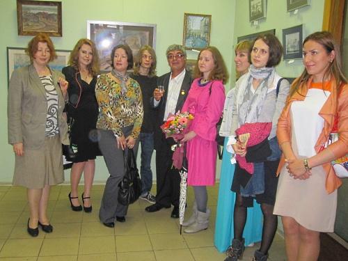 Художник А. Лолаев и его ученики